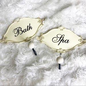 Bath Spa Bathroom Towel Holder Set of 2